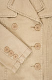 Closeup of coat with buttons Royalty Free Stock Photos