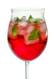 Closeup of a cocktail with campari royalty free stock photography