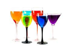 closeup cocktail glasses Στοκ Εικόνα