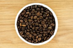 Closeup of coffee bean in bowl Royalty Free Stock Image