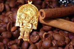 Closeup of coffee beans Stock Photos