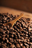 Closeup of coffee beans. Shallow dof royalty free stock photos