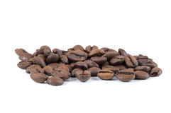 Closeup of coffee beans Royalty Free Stock Photos