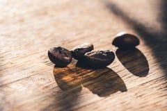 Closeup of coffee beans macro crop royalty free stock image