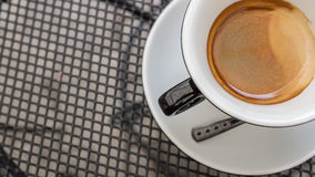 Closeup of coffee cup, selective focus Royalty Free Stock Image