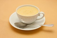 Closeup of coffee with milk Royalty Free Stock Image