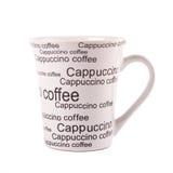 Closeup of coffee mug isolated on white Stock Images