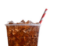 Closeup Cola with Straw Royalty Free Stock Photography