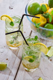 Closeup of cold drink made of citrus fruit Stock Images