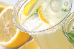 Closeup cold  lemonade Royalty Free Stock Photos