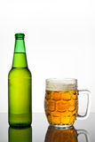 Mug of cold beer Stock Image