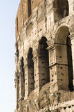Closeup of Coliseum stock image
