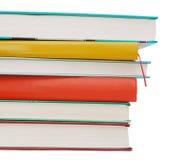 Closeup color books Stock Photos