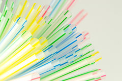 Closeup of color cocktail straws Stock Photo