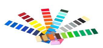 Closeup color guide Stock Image