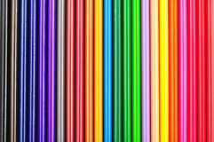 Closeup of color pencils colorful gradient Royalty Free Stock Photo