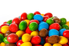 Closeup of colored chocolate sweets Stock Image