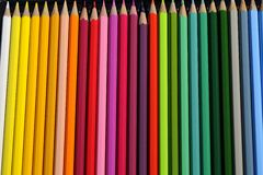 Closeup with colored pencils Royalty Free Stock Photo