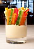 Closeup of an colorful appetizer stock image
