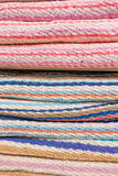Closeup Colorful Beautiful towels for background Royalty Free Stock Photo
