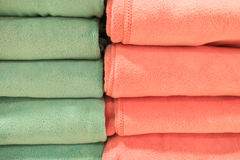 Closeup Colorful Beautiful towels for background Stock Images