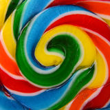 Closeup of a Colorful Candy Lollipop Royalty Free Stock Images