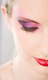 Closeup of colorful elegant makeup. Stock Images