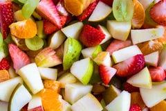 Closeup of Colorful Fruit Salad Royalty Free Stock Image