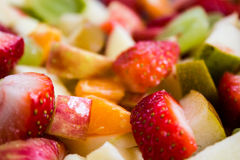 Closeup of Colorful Fruit Salad Stock Image