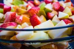 Closeup of Colorful Fruit Salad Royalty Free Stock Photo
