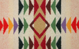 Closeup of Colorful Pattern on a Wool Blanket Royalty Free Stock Photo