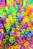 Closeup of colorful plastic straw. The closeup of the colorful plastic straw Stock Photography