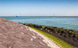 Closeup of a colorful seawall Stock Image