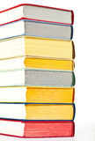 Closeup of colorful stacked books Royalty Free Stock Images