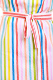 Closeup of colorful striped kitchen apron as background Stock Images