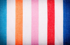 Closeup of colorful striped textile as background or texture Stock Image