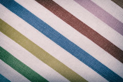 Closeup of colorful striped textile as background or texture Royalty Free Stock Image