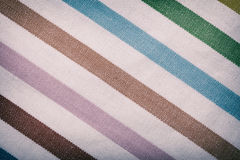 Closeup of colorful striped textile as background or texture Stock Photography