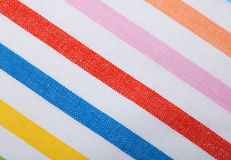 Closeup of colorful striped textile as background or texture royalty free stock photos