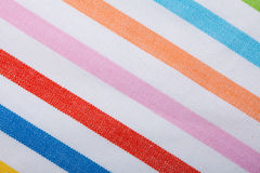 Closeup of colorful striped textile as background or texture Royalty Free Stock Photography
