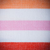 Closeup of colorful striped textile as background or texture Royalty Free Stock Images