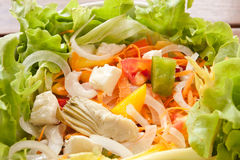 Closeup of colorful and tasty salad Stock Images