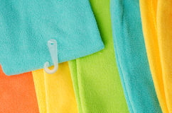 Closeup colorful towels for background Royalty Free Stock Images