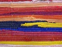 A Colorful Traditional Handmade Etno Rug Carpet. A Closeup of Colorful Traditional Etno Handmade Rug Carpet Background Stock Image