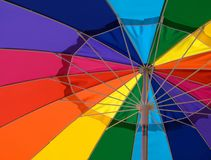 Closeup of colorful umbrella Royalty Free Stock Image