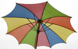 Closeup colorful umbrella Stock Images