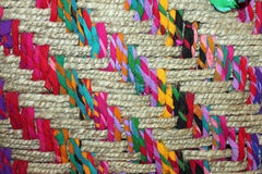 Closeup of a Colorful Woven Basket Royalty Free Stock Photo