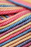 Closeup of colorful yarn Stock Image