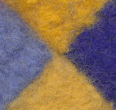 Closeup of colourful felted wool Stock Image