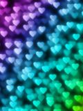 Colourful Heart Bokeh Stock Photography